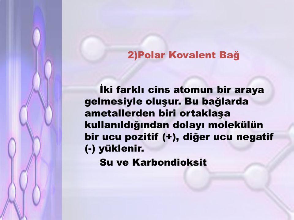 2)Polar Kovalent Bağ