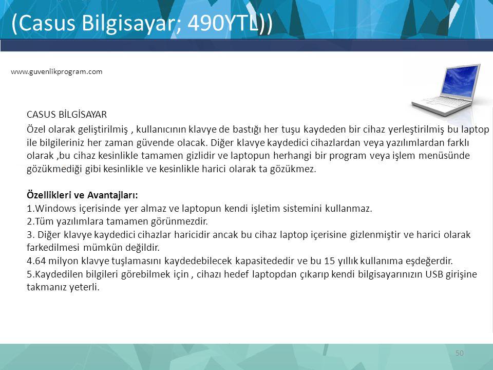 (Casus Bilgisayar; 490YTL)) www.guvenlikprogram.com
