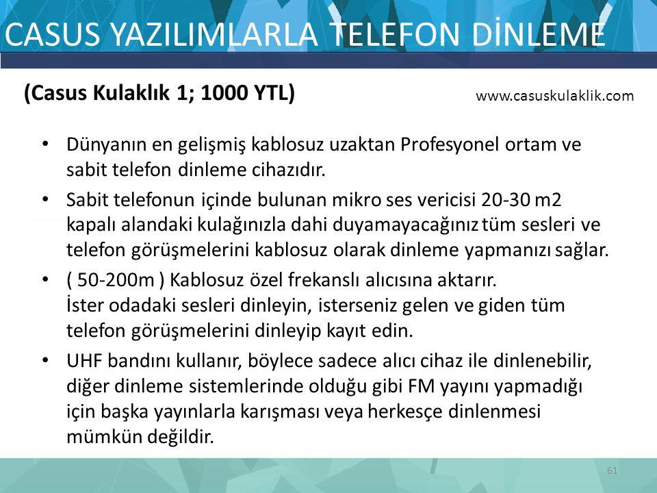 CASUS YAZILIMLARLA TELEFON DİNLEME