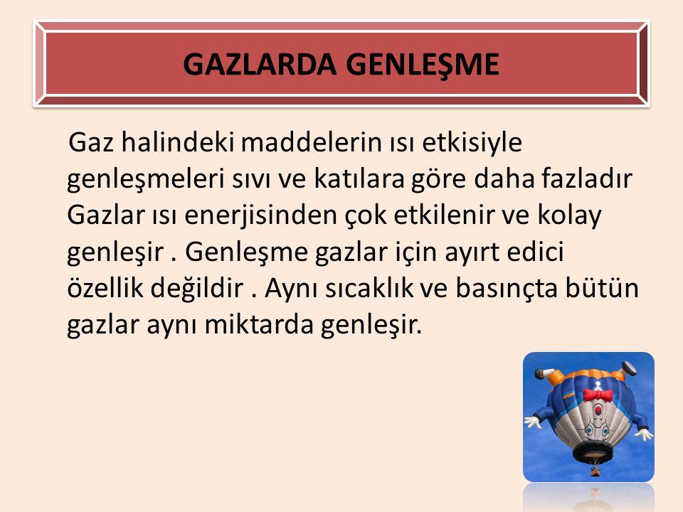 GAZLARDA GENLEŞME