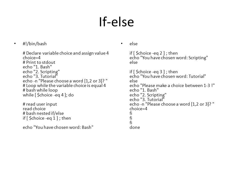If-else