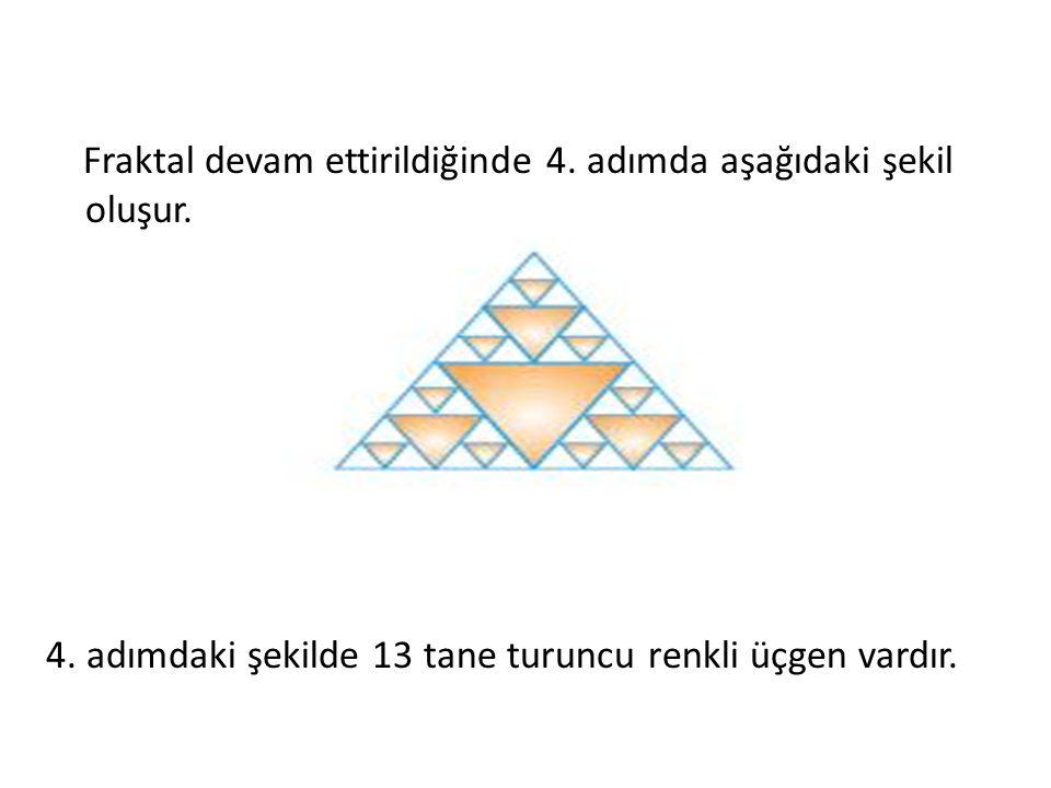 Fraktal devam ettirildiğinde 4. adımda aşağıdaki şekil oluşur. 4