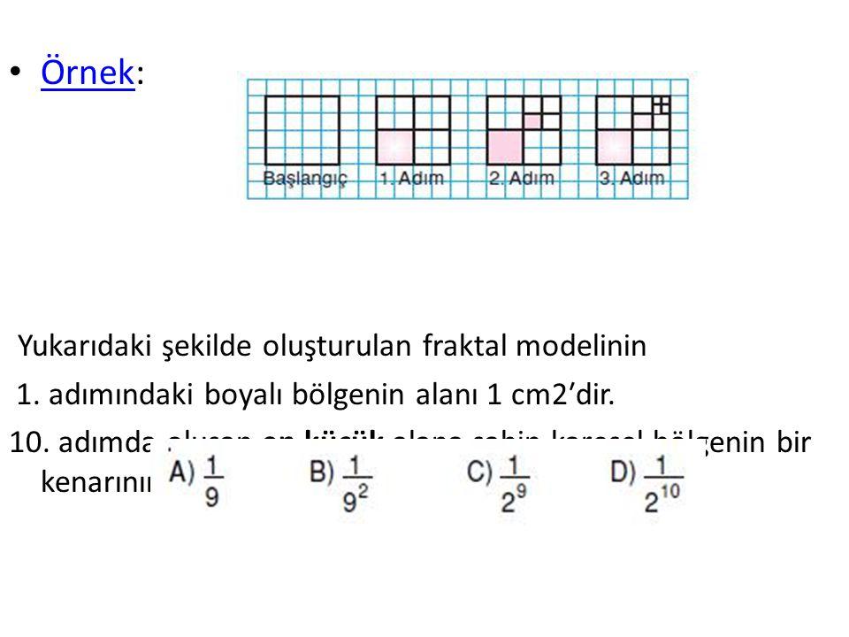 Yukarıdaki şekilde oluşturulan fraktal modelinin