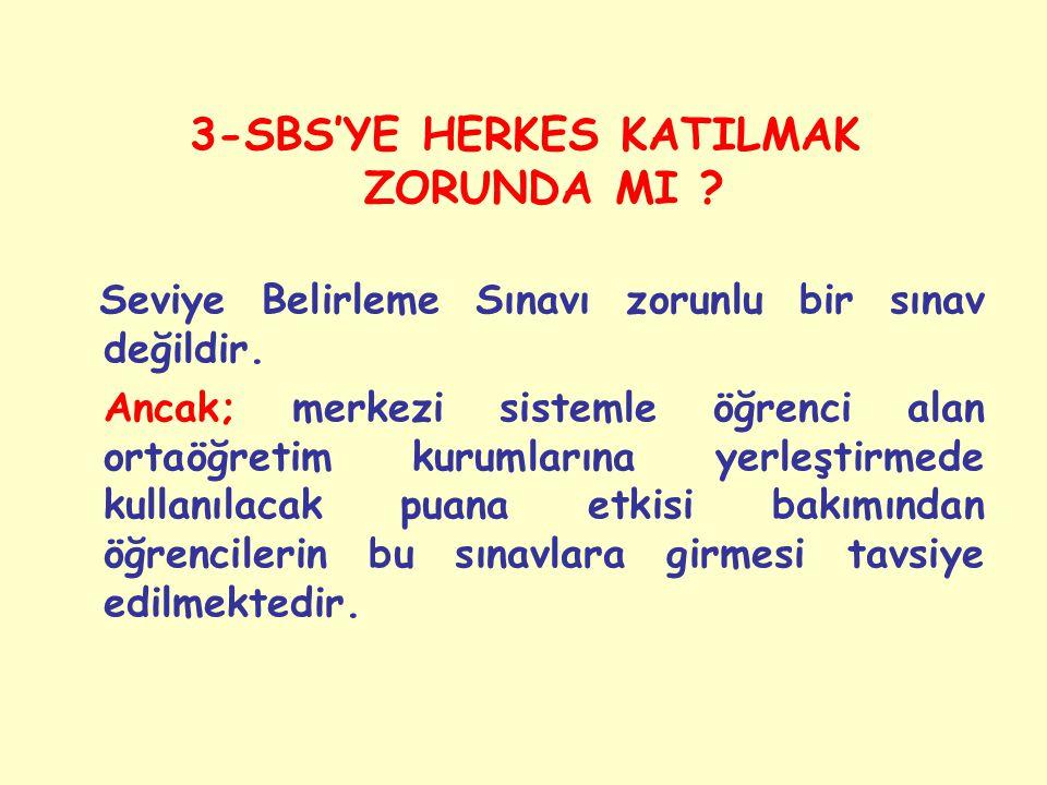 3-SBS'YE HERKES KATILMAK ZORUNDA MI