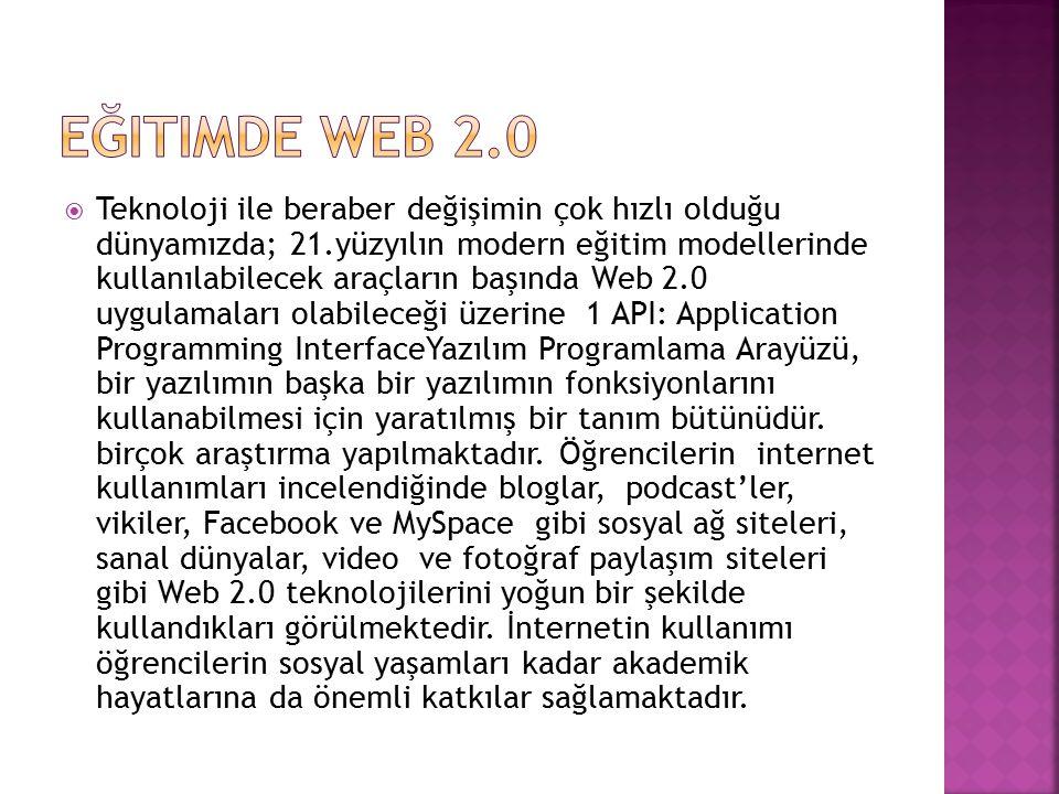 Eğitimde Web 2.0