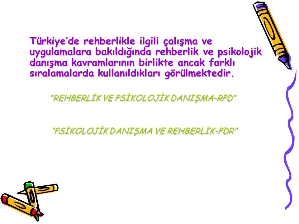 REHBERLİK VE PSİKOLOJİK DANIŞMA-RPD