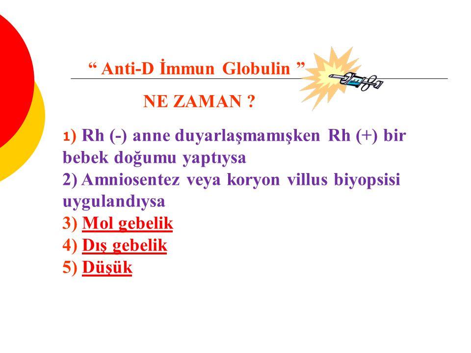 Anti-D İmmun Globulin NE ZAMAN