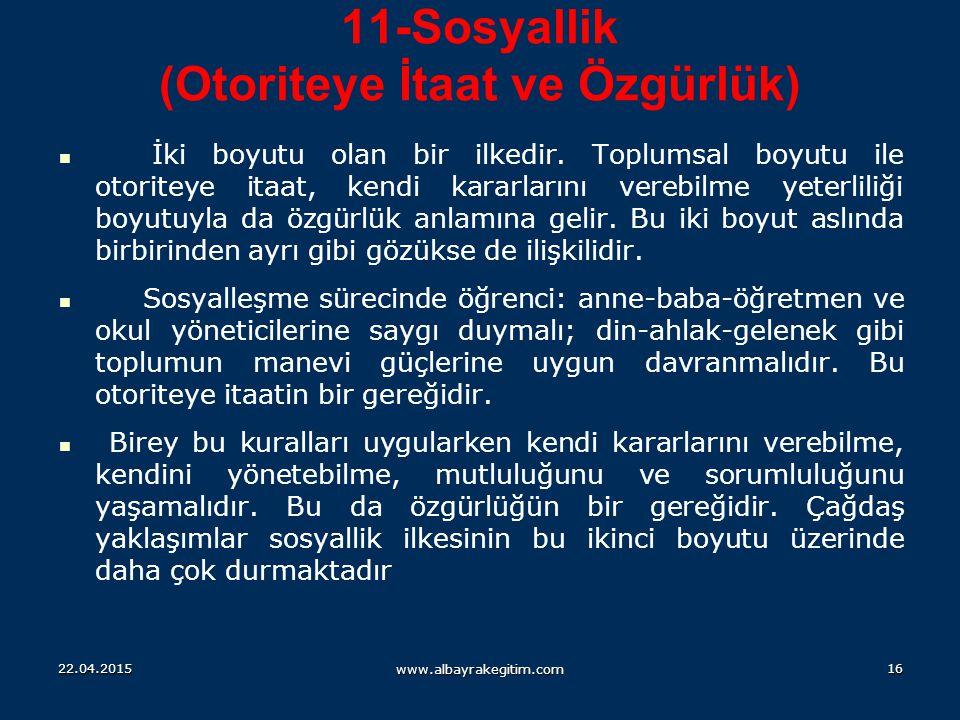 11-Sosyallik (Otoriteye İtaat ve Özgürlük)