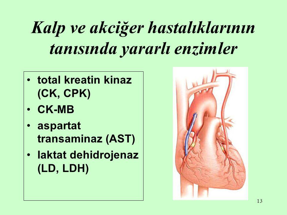 Kalp ve akciğer hastalıklarının tanısında yararlı enzimler
