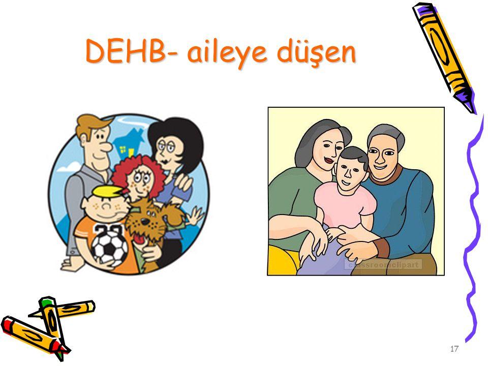 DEHB- aileye düşen