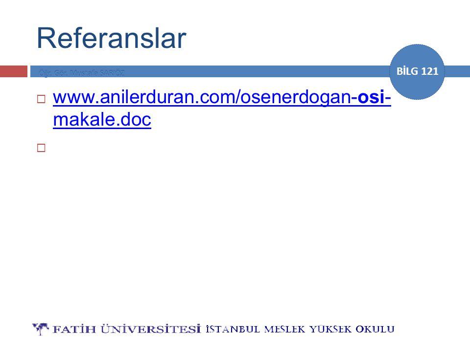 Referanslar www.anilerduran.com/osenerdogan-osi- makale.doc