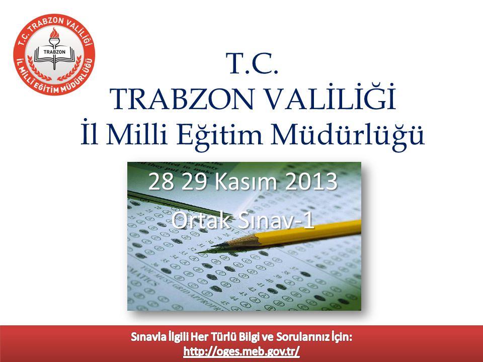 T.C. TRABZON VALİLİĞİ İl Milli Eğitim Müdürlüğü