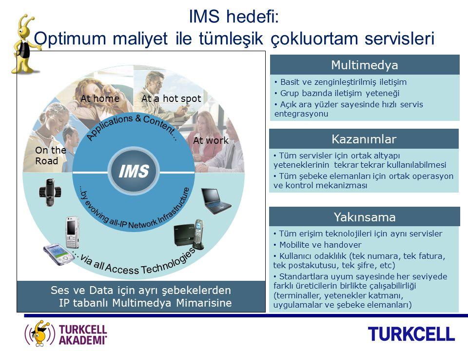 IMS hedefi: Optimum maliyet ile tümleşik çokluortam servisleri