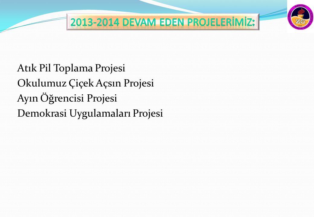 2013-2014 DEVAM EDEN PROJELERİMİZ: