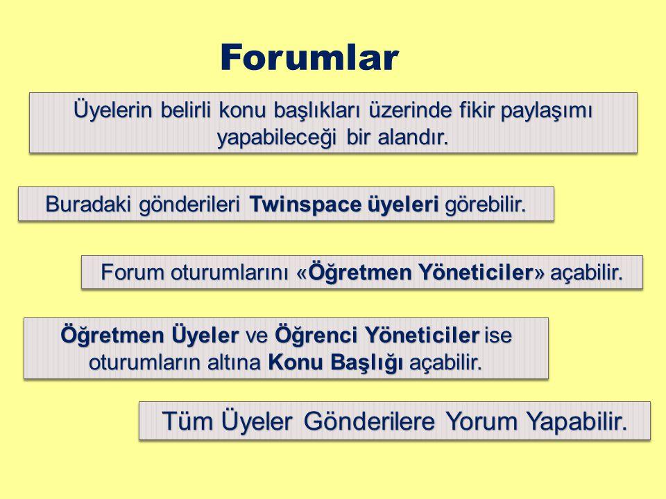 Forumlar Tüm Üyeler Gönderilere Yorum Yapabilir.