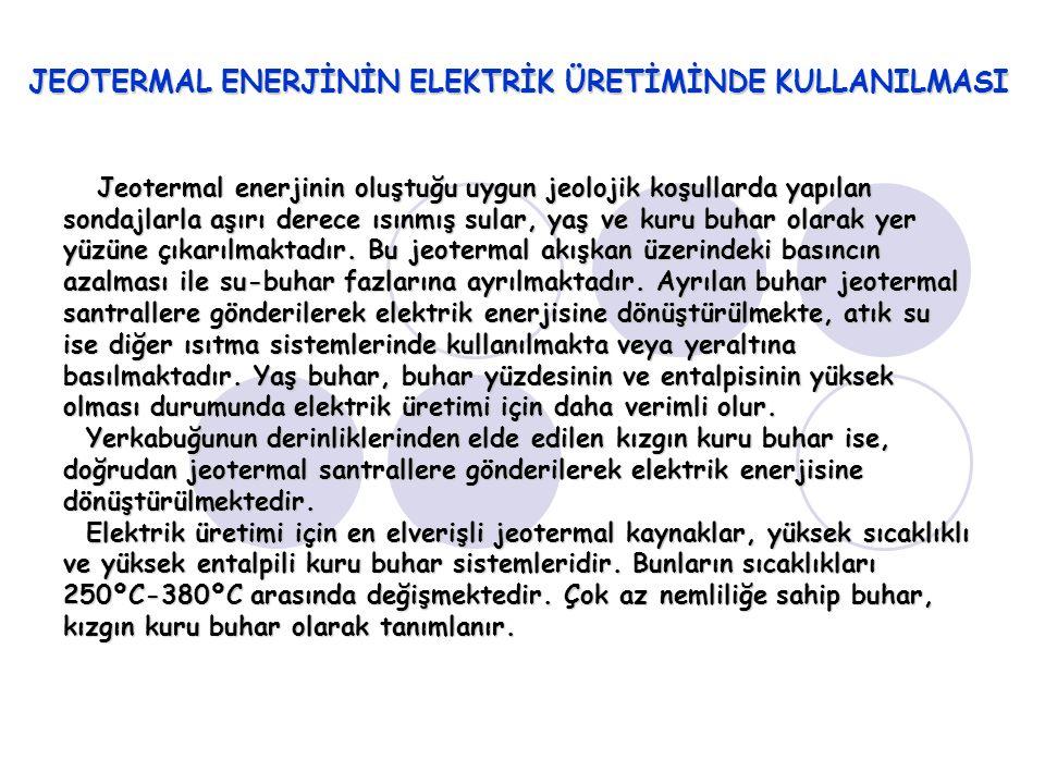 JEOTERMAL ENERJİNİN ELEKTRİK ÜRETİMİNDE KULLANILMASI
