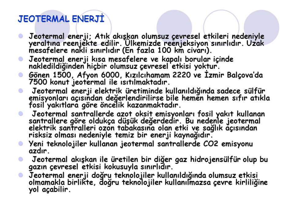 JEOTERMAL ENERJİ
