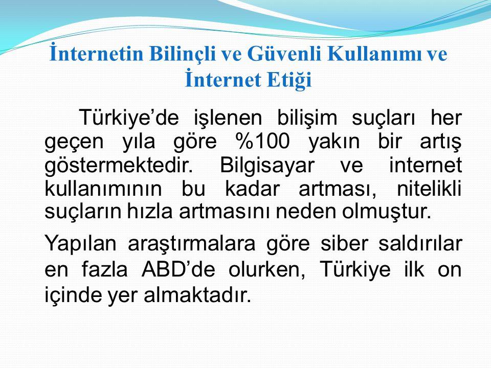 İnternetin Bilinçli ve Güvenli Kullanımı ve İnternet Etiği