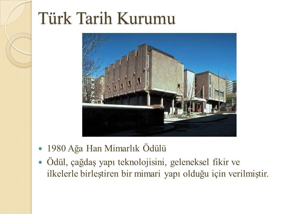 Türk Tarih Kurumu 1980 Ağa Han Mimarlık Ödülü