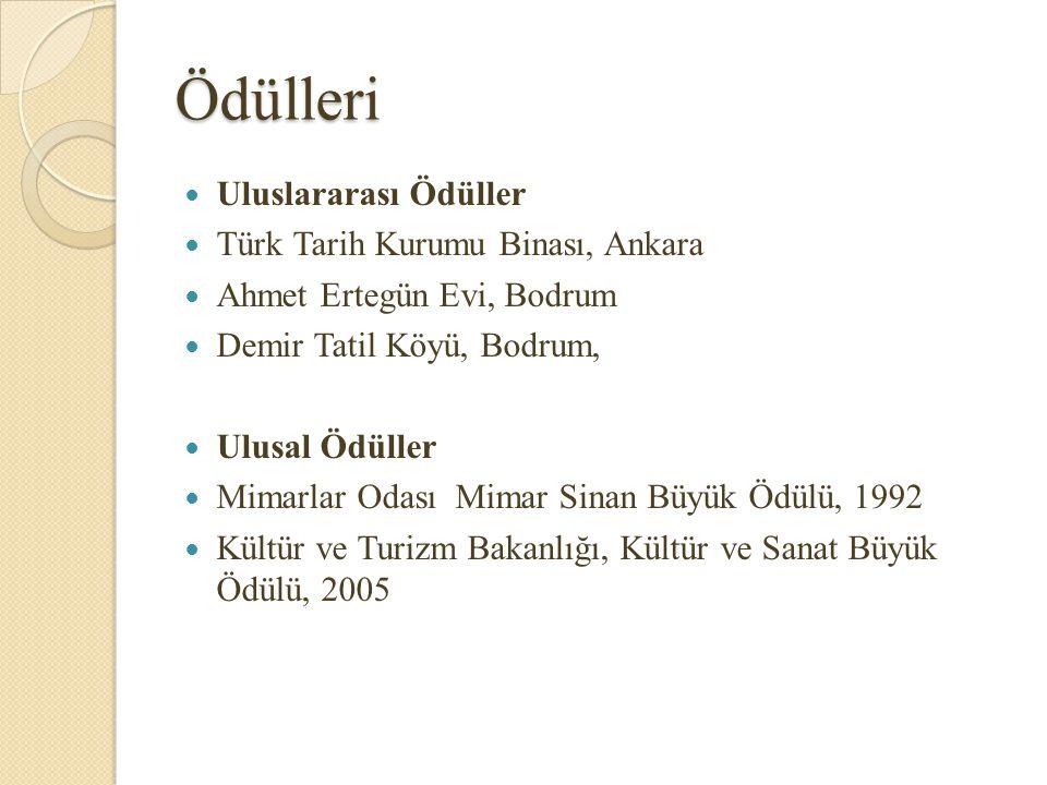 Ödülleri Uluslararası Ödüller Türk Tarih Kurumu Binası, Ankara