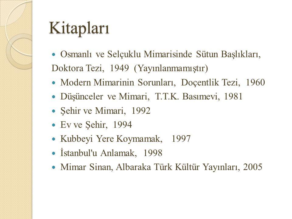 Kitapları Osmanlı ve Selçuklu Mimarisinde Sütun Başlıkları,