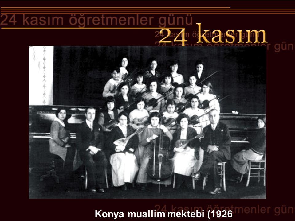Konya muallim mektebi (1926