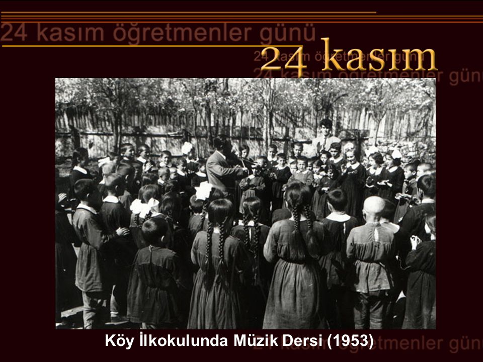 Köy İlkokulunda Müzik Dersi (1953)