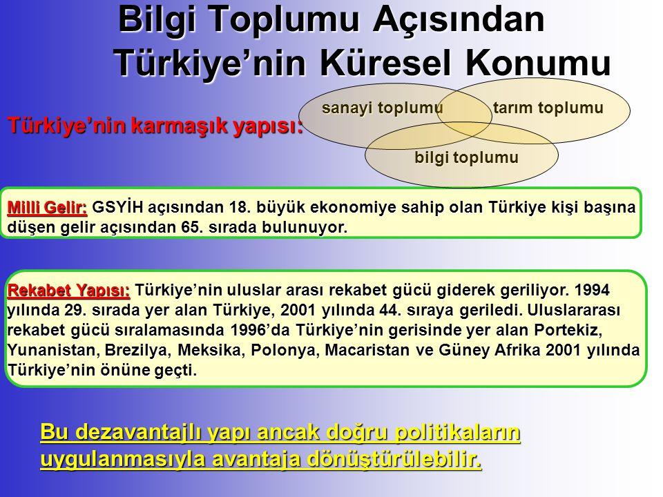 Bilgi Toplumu Açısından Türkiye'nin Küresel Konumu