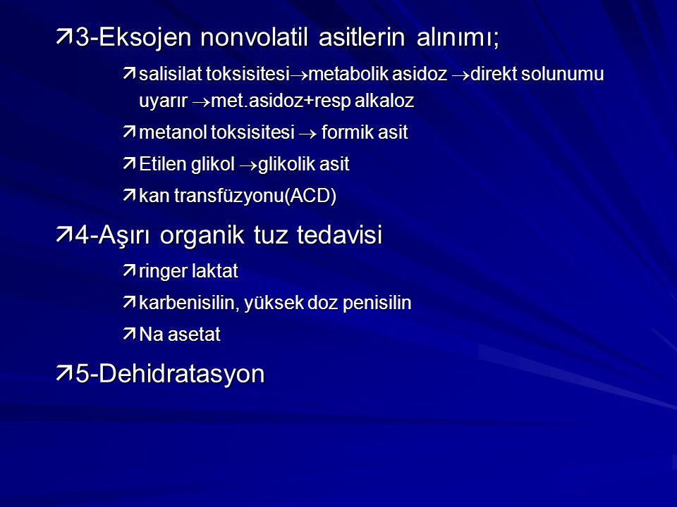 3-Eksojen nonvolatil asitlerin alınımı;