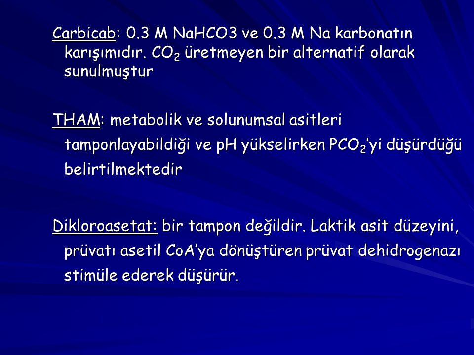 Carbicab: 0. 3 M NaHCO3 ve 0. 3 M Na karbonatın karışımıdır
