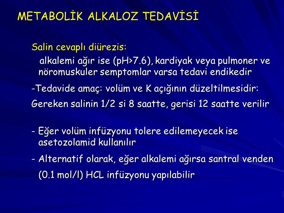 METABOLİK ALKALOZ TEDAVİSİ