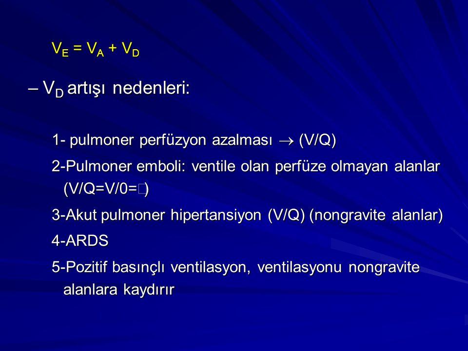 VD artışı nedenleri: VE = VA + VD