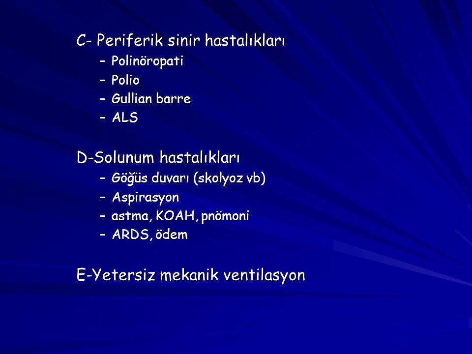 C- Periferik sinir hastalıkları