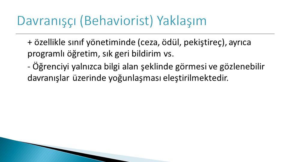 Davranışçı (Behaviorist) Yaklaşım