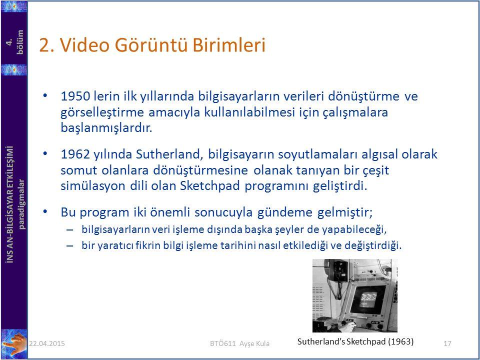 2. Video Görüntü Birimleri