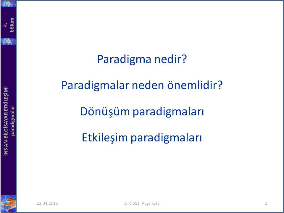 Paradigmalar neden önemlidir Dönüşüm paradigmaları