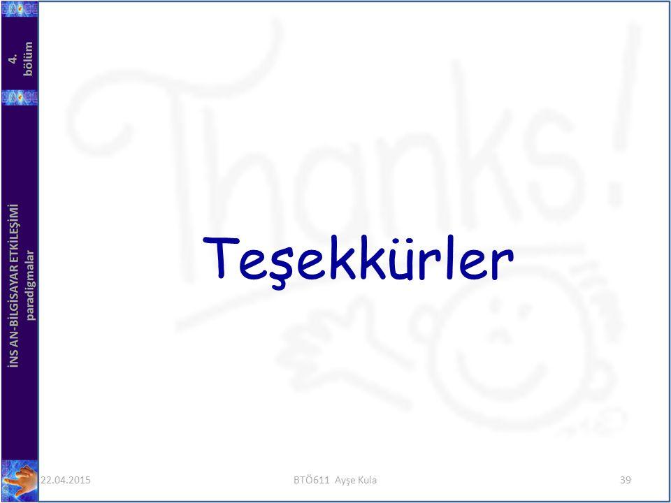 Teşekkürler 14.04.2017 BTÖ611 Ayşe Kula