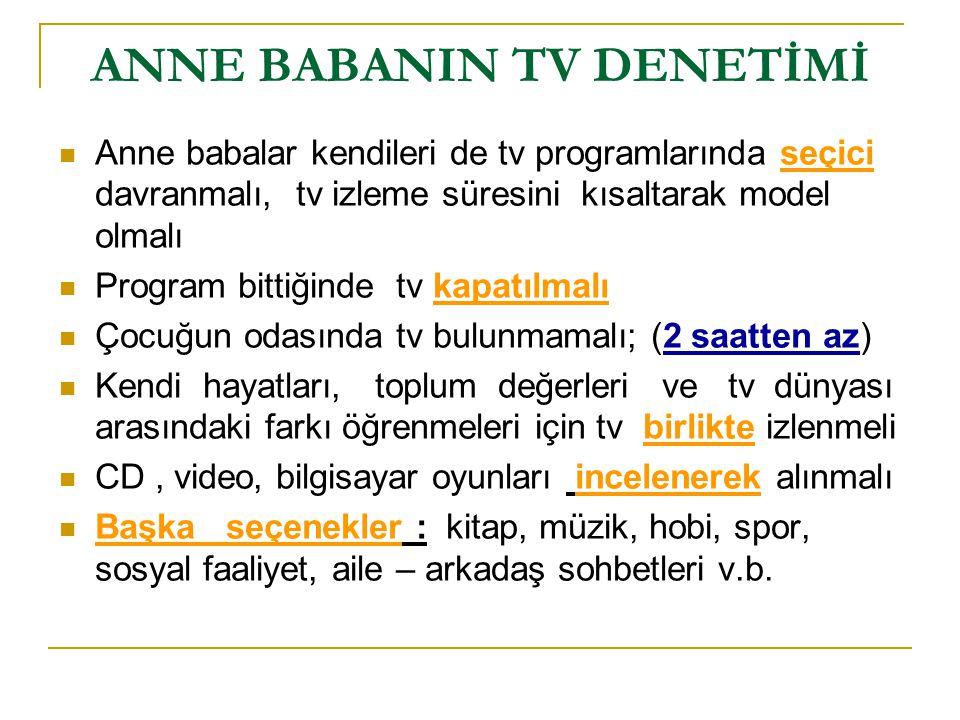 ANNE BABANIN TV DENETİMİ
