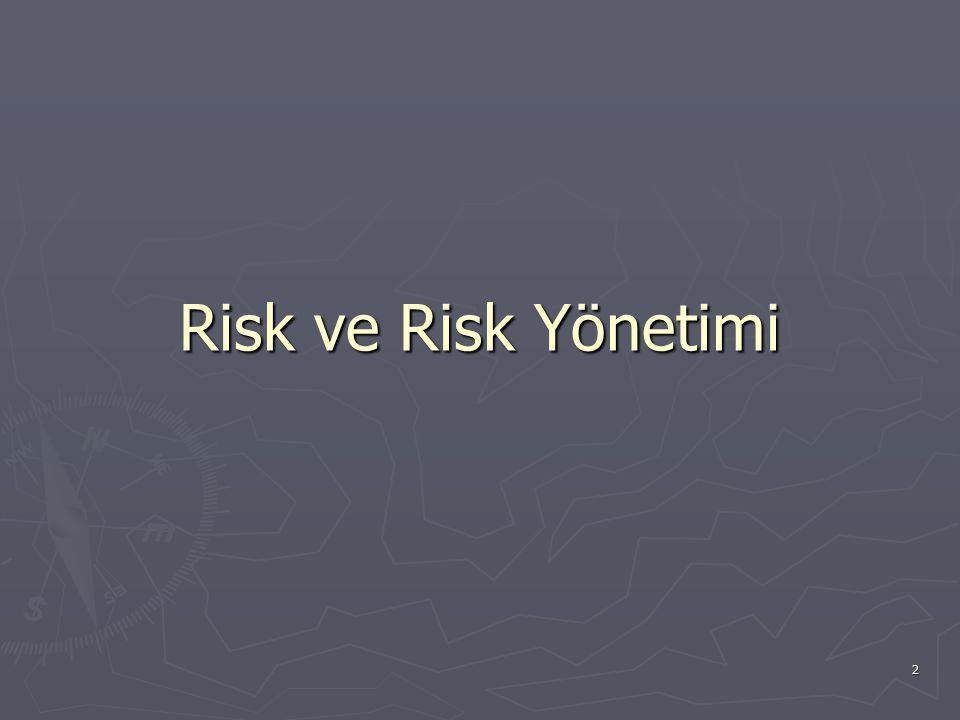 Risk ve Risk Yönetimi