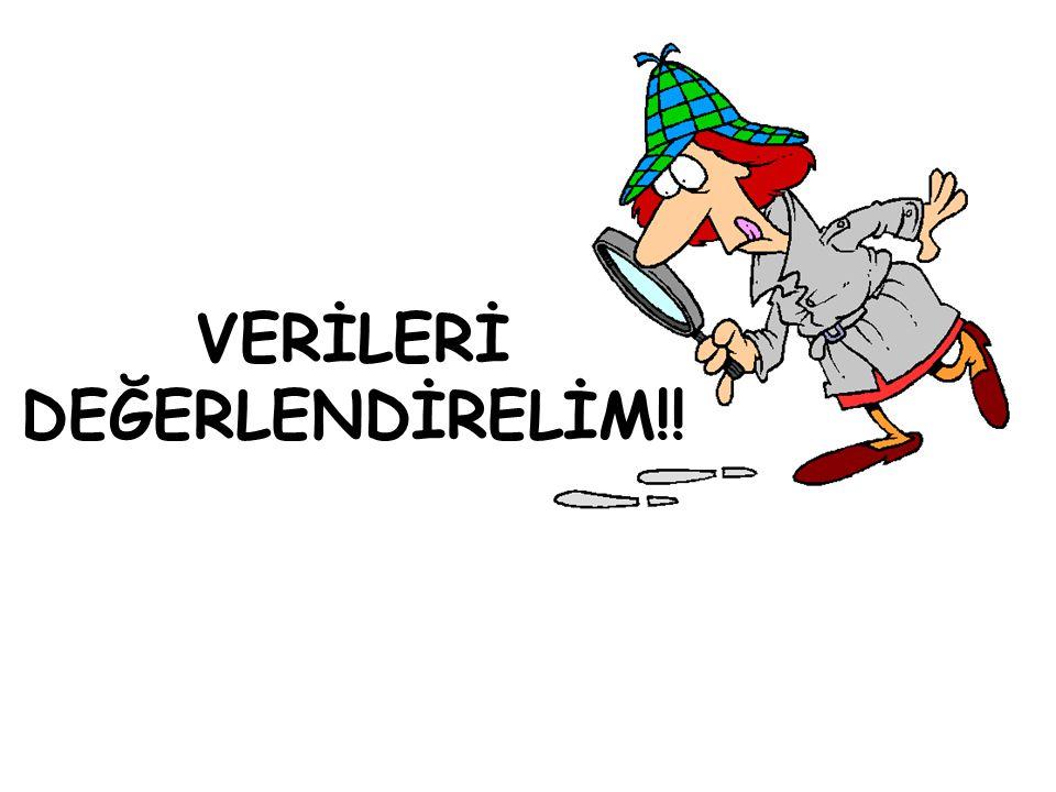 VERİLERİ DEĞERLENDİRELİM!!