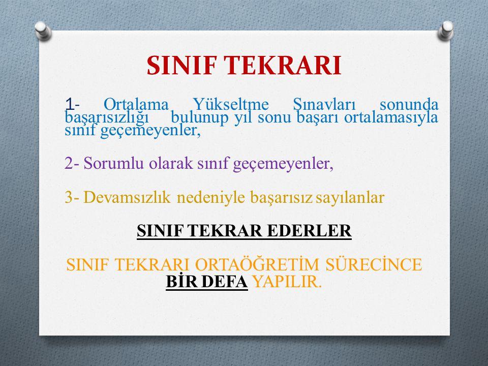 SINIF TEKRARI ORTAÖĞRETİM SÜRECİNCE