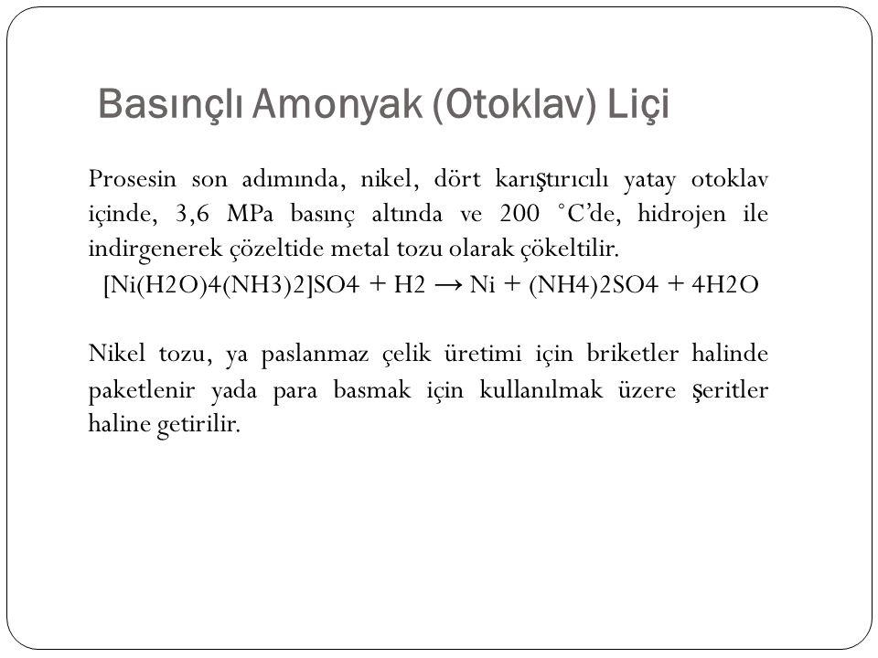 Basınçlı Amonyak (Otoklav) Liçi