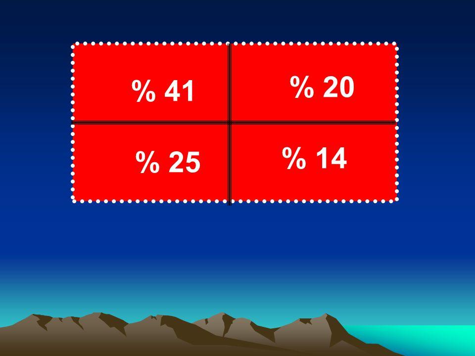 % 20 % 41 % 14 % 25