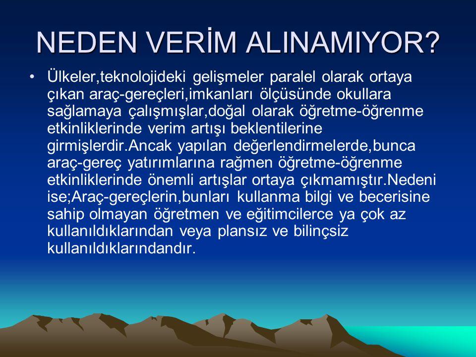 NEDEN VERİM ALINAMIYOR