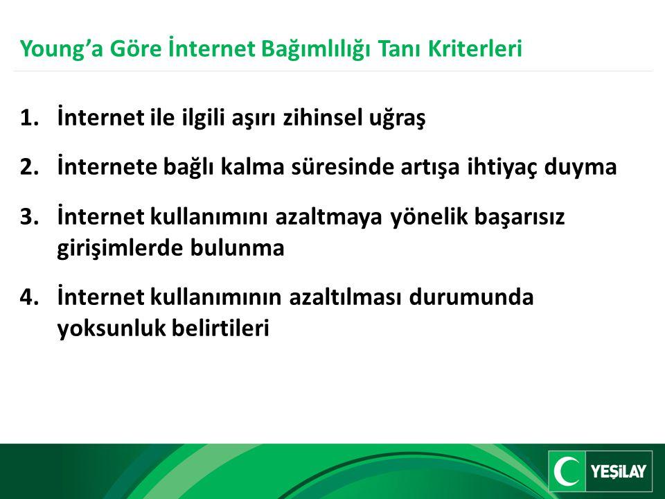 Young'a Göre İnternet Bağımlılığı Tanı Kriterleri