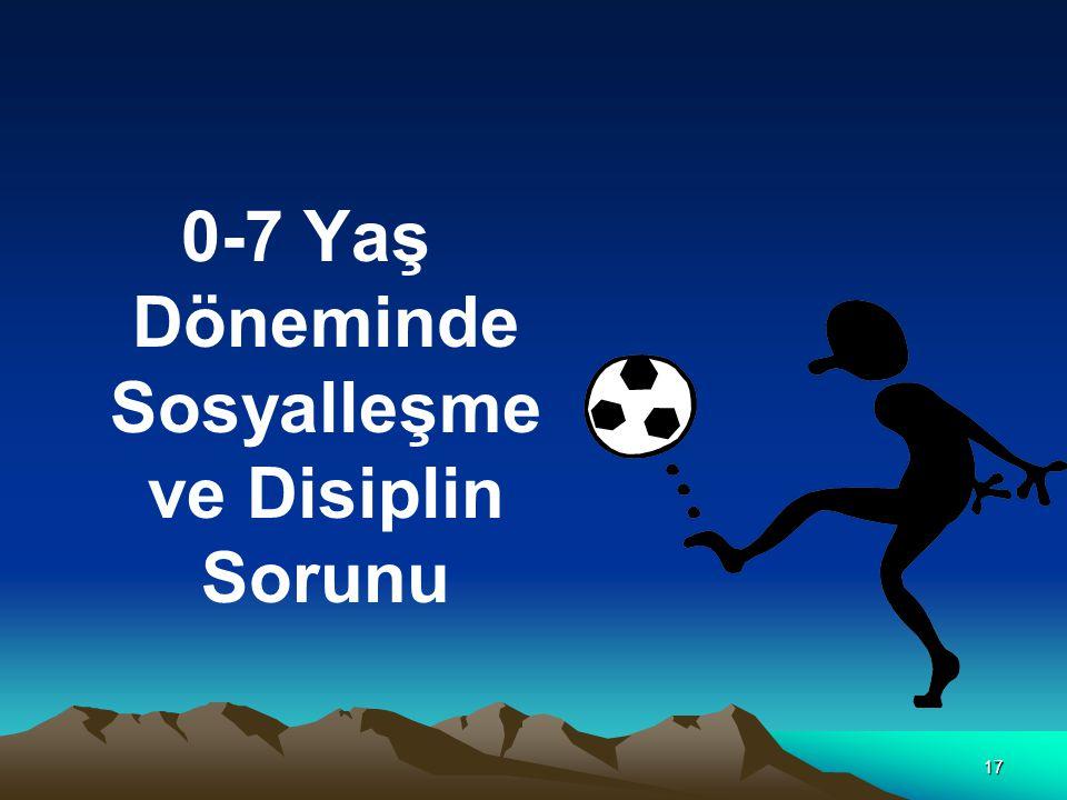 0-7 Yaş Döneminde Sosyalleşme ve Disiplin Sorunu