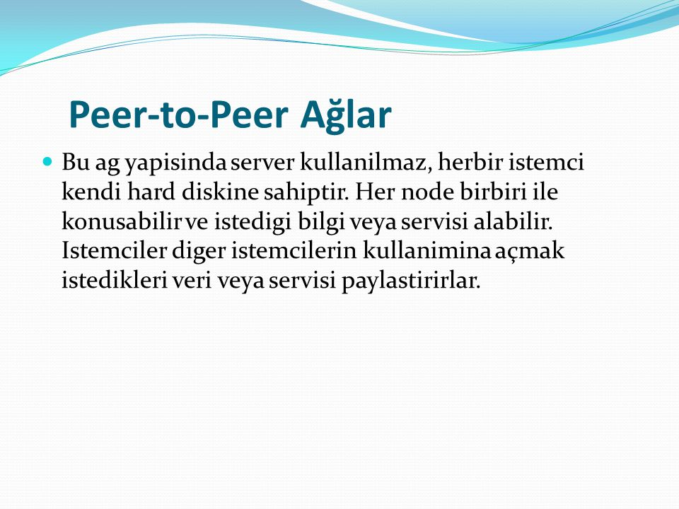 Peer-to-Peer Ağlar