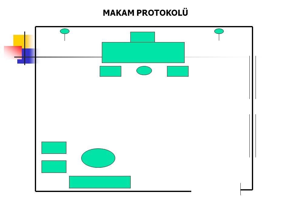 Türk bayrağı bulunan oda, makamdır.