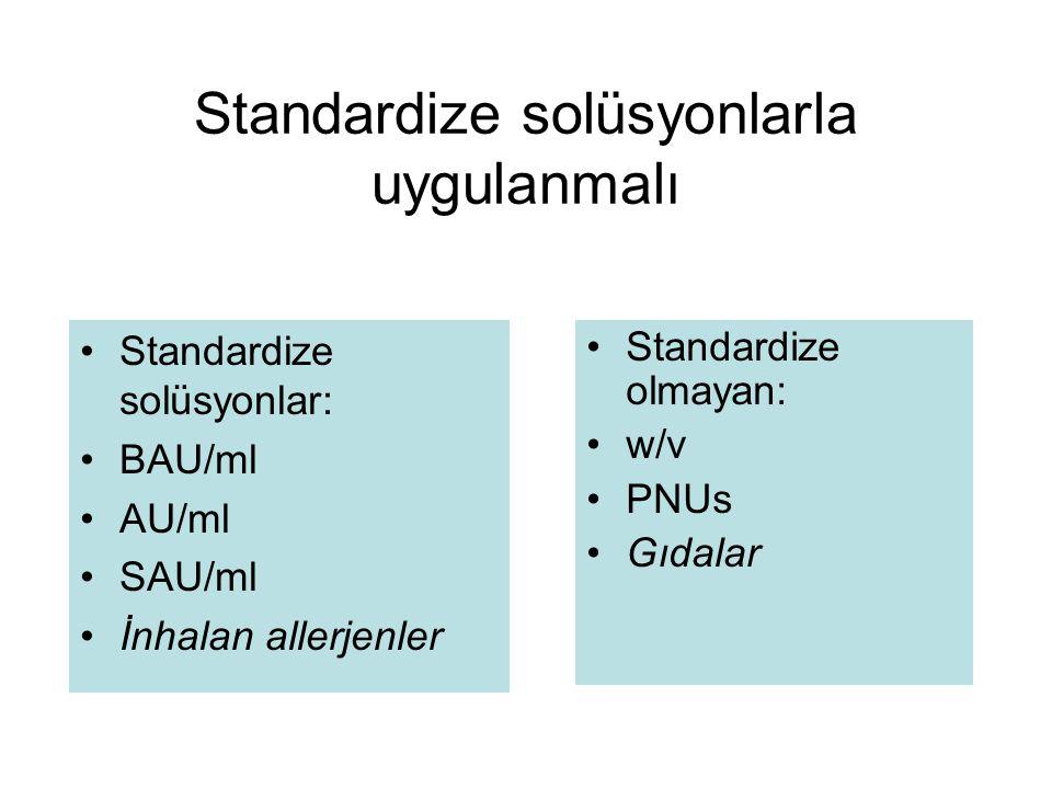 Standardize solüsyonlarla uygulanmalı