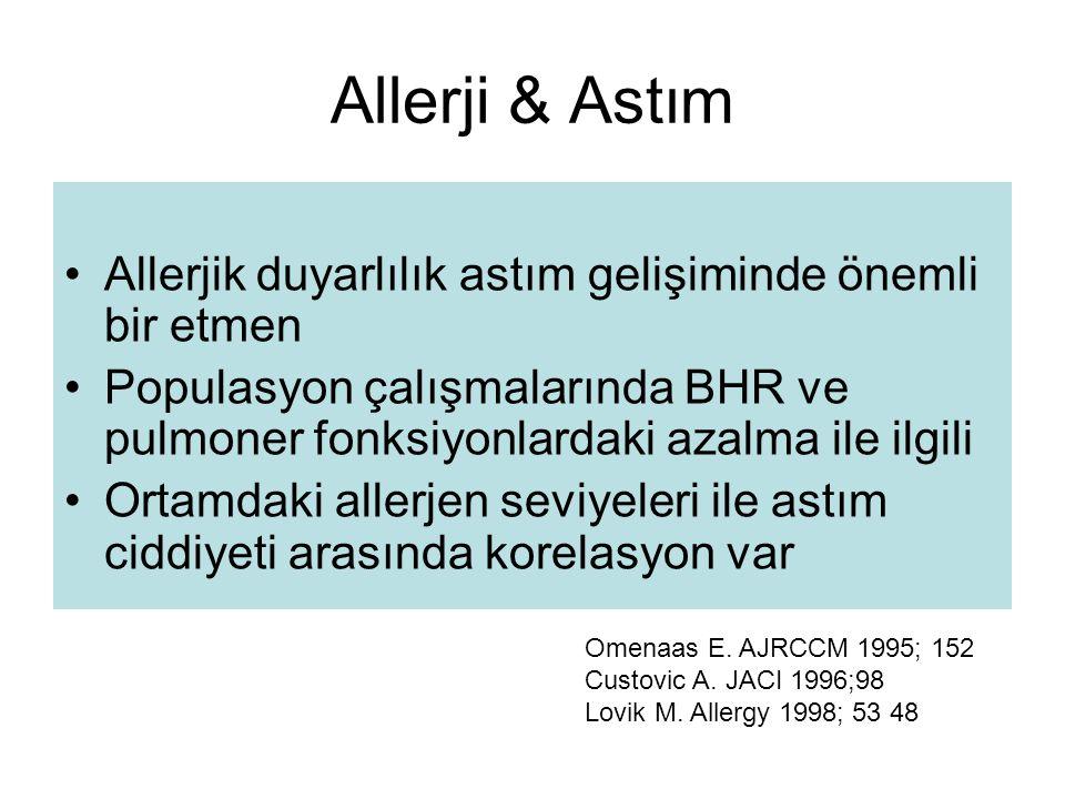 Allerji & Astım Allerjik duyarlılık astım gelişiminde önemli bir etmen